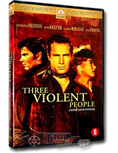 Three Violent People - Charlton Heston, Anne Baxter - DVD (1956)