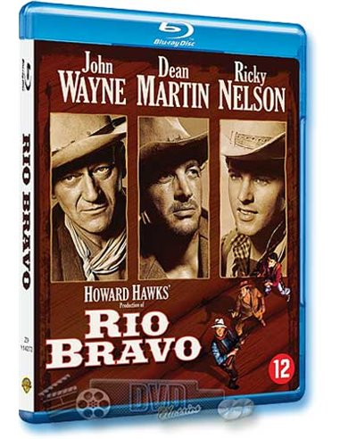 John Wayne in Rio Bravo - Dean Martin, Ricky Nelson - Blu-Ray (1959)